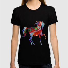 Horse Colorful Silhouette T-shirt