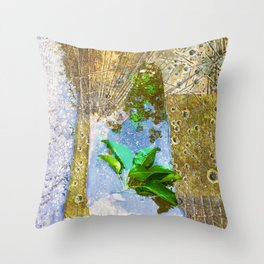 Leaves In Water Throw Pillow