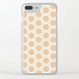 Hex Pattern 72 - Mandarine Clear iPhone Case