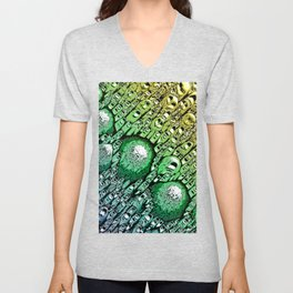 Gradient of Chaotic Shapes Unisex V-Neck