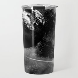 Alien planet black and grey Travel Mug