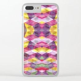 Geometric Bokeh Clear iPhone Case