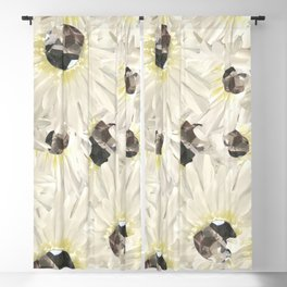 Citrine White Floral Blackout Curtain