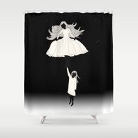 umbrella Shower Curtains featuring UMBRELLA by auntikatar