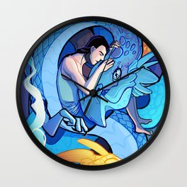 The One Who Sleeps with Dragons Wall Clock