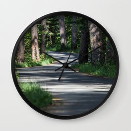 Itasca's Winding Road Wall Clock