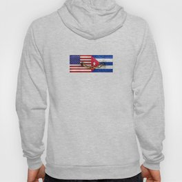 United States and Cuba Flags United Hoody