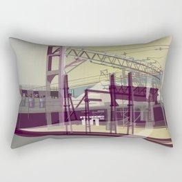 East London Trainlines 3 Rectangular Pillow