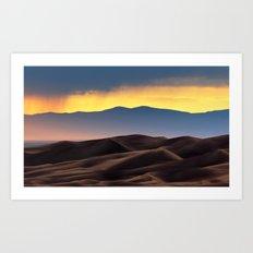 Colorado Sand Dunes Sunset. Art Print