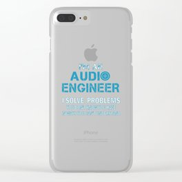 AUDIO ENGINEER Clear iPhone Case