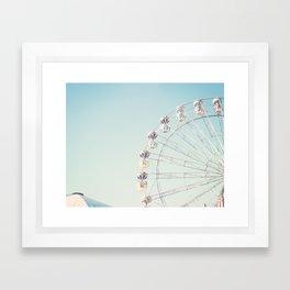 Soft blue ferris wheel  Framed Art Print