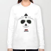 calavera Long Sleeve T-shirts featuring Calavera by UrsusUnlimited