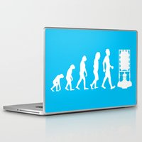 dr who Laptop & iPad Skins featuring Dr Who Evolution by Cheeky Designs
