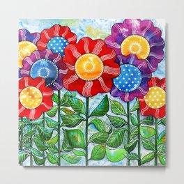 Happiest Flowers Metal Print