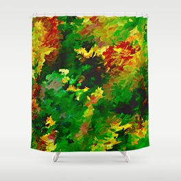 Emerald Forms Abstract Shower Curtain