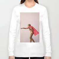 super hero Long Sleeve T-shirts featuring super hero by bmkoc