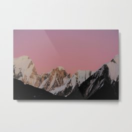 Sunset Peak Metal Print