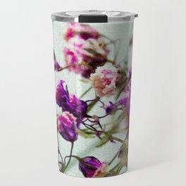 pink florets detail Travel Mug