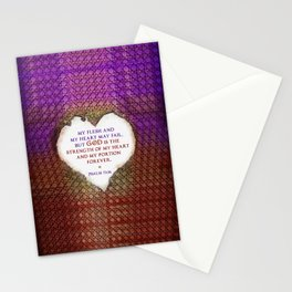 The Strength of My Heart Stationery Cards