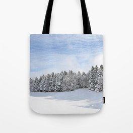 Charteuse Mountain2 Tote Bag