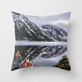 Magikarpe Diem Throw Pillow