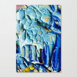 Blue Acrylic Oil Painting Canvas Print