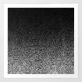 Silver & Black Glitter Gradient Art Print