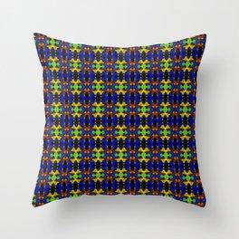 Gold Strands - Navy Blue Throw Pillow