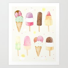 Ice creams Art Print