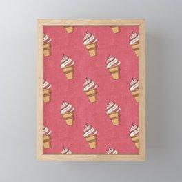 FAST FOOD / Ice Cream - pattern Framed Mini Art Print