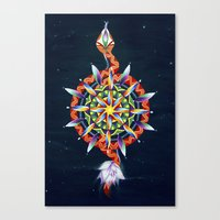 chakra Canvas Prints featuring Muladhara Chakra by DiskoGalerie