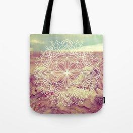 Rain Dance Desert Mandala Tote Bag