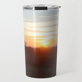 Orange Sunset Travel Mug