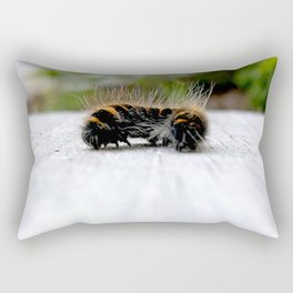 Wannabe Tiger (Fox Moth Caterpillar) Rectangular Pillow