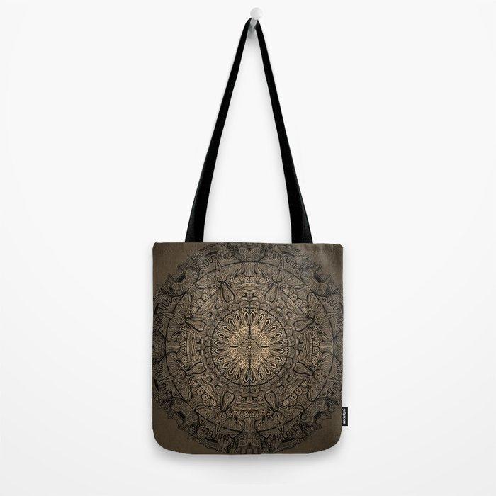 Sepia Mandala Tote Bag