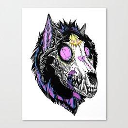 Hypnotic Wolf Skull Canvas Print