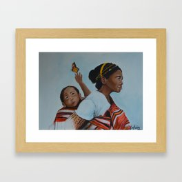 ifugao mother and child Framed Art Print
