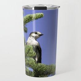 North American Grey Jay Travel Mug