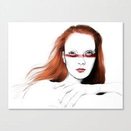 Love Girls - Blood redhead Canvas Print