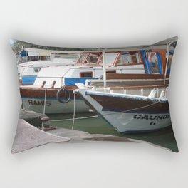 Caunos Riverboats at Dalyan Rectangular Pillow