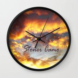 Purple Haze Flavored Cotton Candy. (Stoner Camo) Wall Clock