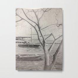 Dinghy Dock, Oriental NC Metal Print