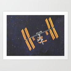 ISS Art Print