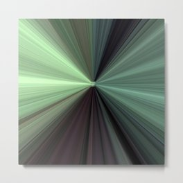 Shades of Green Color Explosion Metal Print