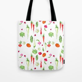 Veggie Party Pattern Tote Bag
