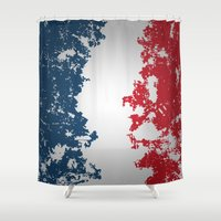 france Shower Curtains featuring France by Flat Design