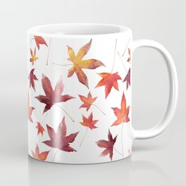 Dead Leaves over White Coffee Mug