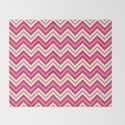 Chevron Pattern | Zig Zags | Pink, Orange, Black and White | by eclecticatheart