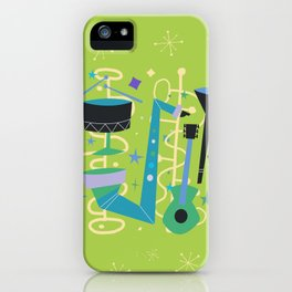 Midcentury Modern Fifties Jazz Composition iPhone Case