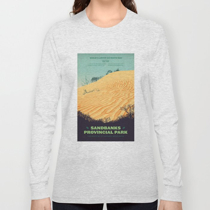 Sandbanks Provincial Park Poster Long Sleeve T-shirt